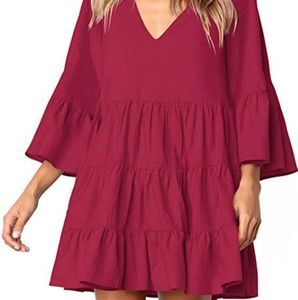 New without tags burgandy boho dress